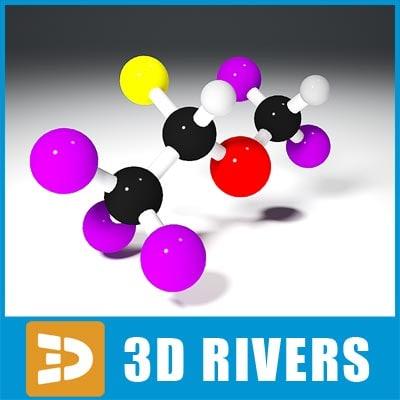 3ds isoflurane molecule structure