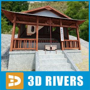 3d japanese temple
