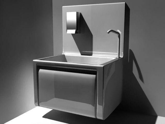 3d model hand sinks