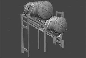 ife raft liferaft 3d model
