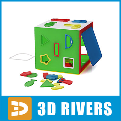 puzzle toys play 3d max