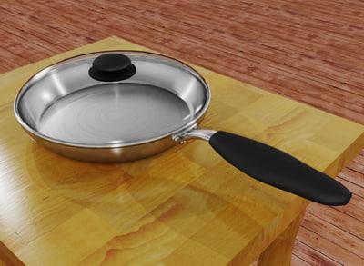 fry pan 3d model