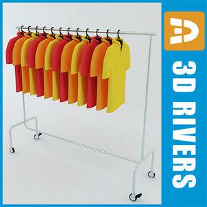 maya retail clothing rack polo