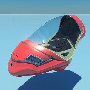 3d futuristic vehicle personal city model