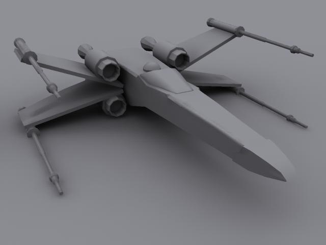free x-wing fighter 3d model