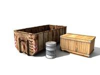 3dsmax props metal wooden