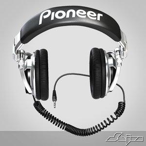dj headphone 3d 3ds