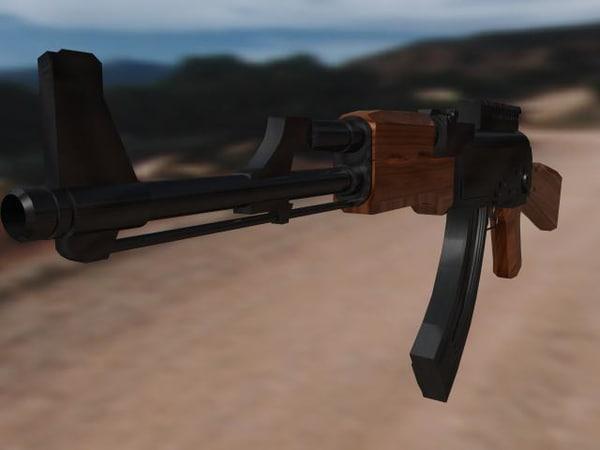 3d model ak47 assault rifle