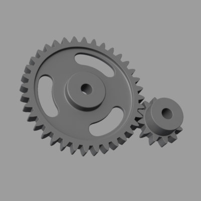 3d model spur gears