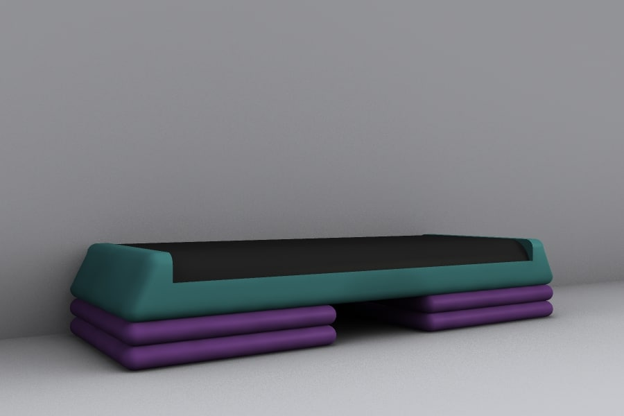 3d model of step bench
