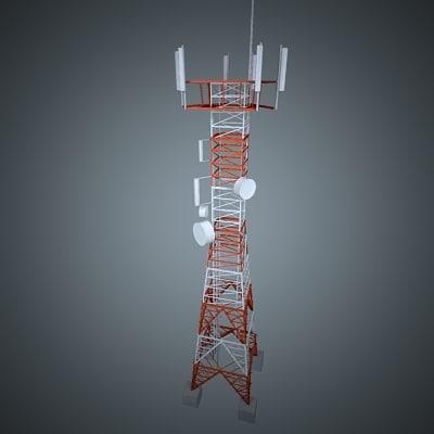 3ds max telecom tower