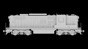 3ds max train gp9 2555