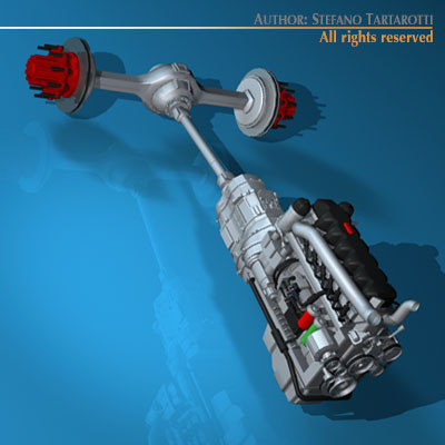 3ds max truck engine