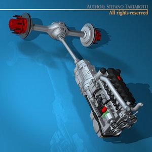 3ds max truck engine
