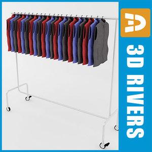 obj retail clothing rack waistcoat