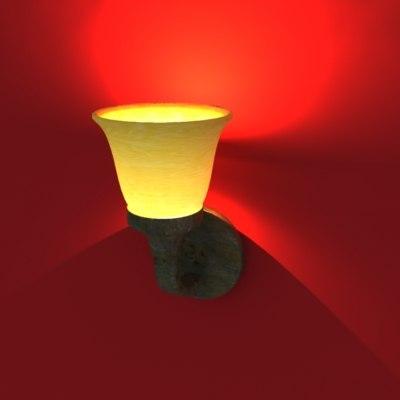 3d model of wall light