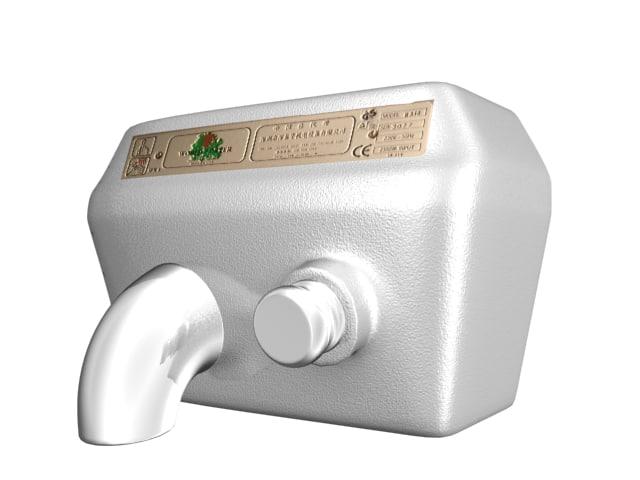 3d model hand dryer