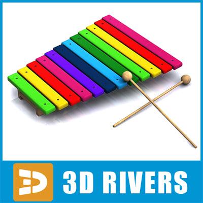 3d baby xylophone