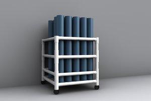 yoga mats 3d model