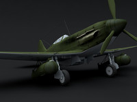 wwii russian aircraft 3d model