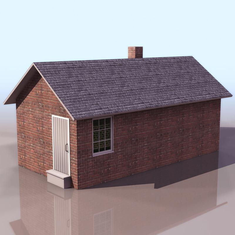3d model new smoke house