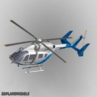 eurocopter ec-145 bangkok helicopter 3ds