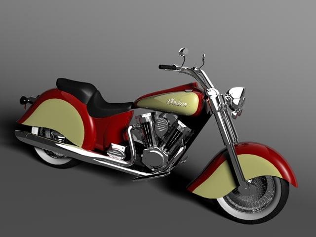 3d model vintage bike indian chief
