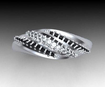 diamonds gold 3d model