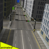 3d city buildings street