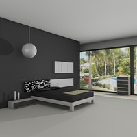 bedroom set 3d dxf