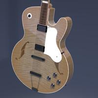 jazz guitar 3d model