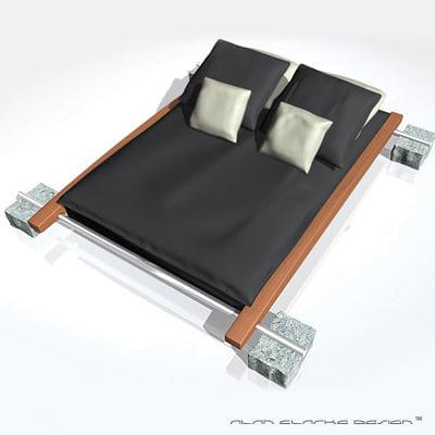 3d luxury designer futon bed