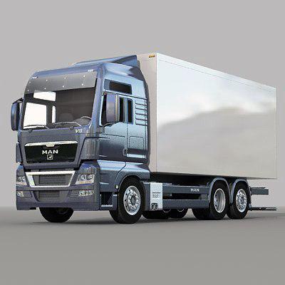 man tgx truck 3d model