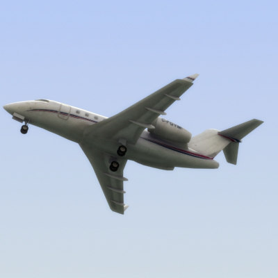 3d bombardier challenger business jet model