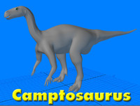 3d model camptosaurus