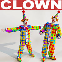clown games modelled 3d 3ds
