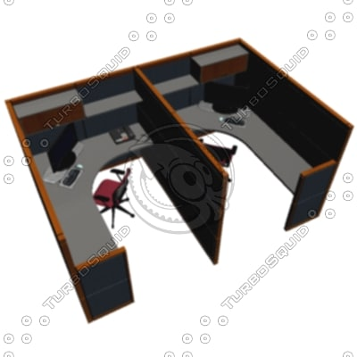 3ds max cubicle workstation