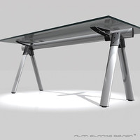 DESIGNER DESK - Glass & Aluminium