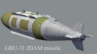 gbu-31 jdam missile obj