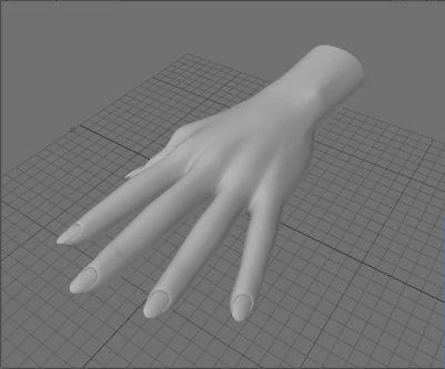 female hand obj