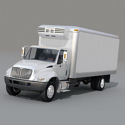 box truck 3d model