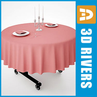 3d max portable hotel table
