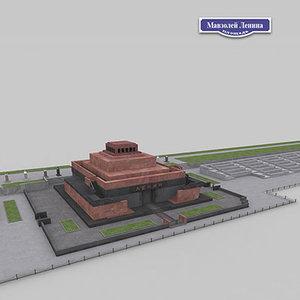 lenin mausoleum 3d model