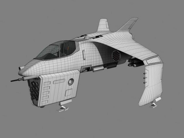 spaceship fighter 3d lwo