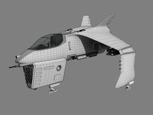 spaceship fighter 3d lwo