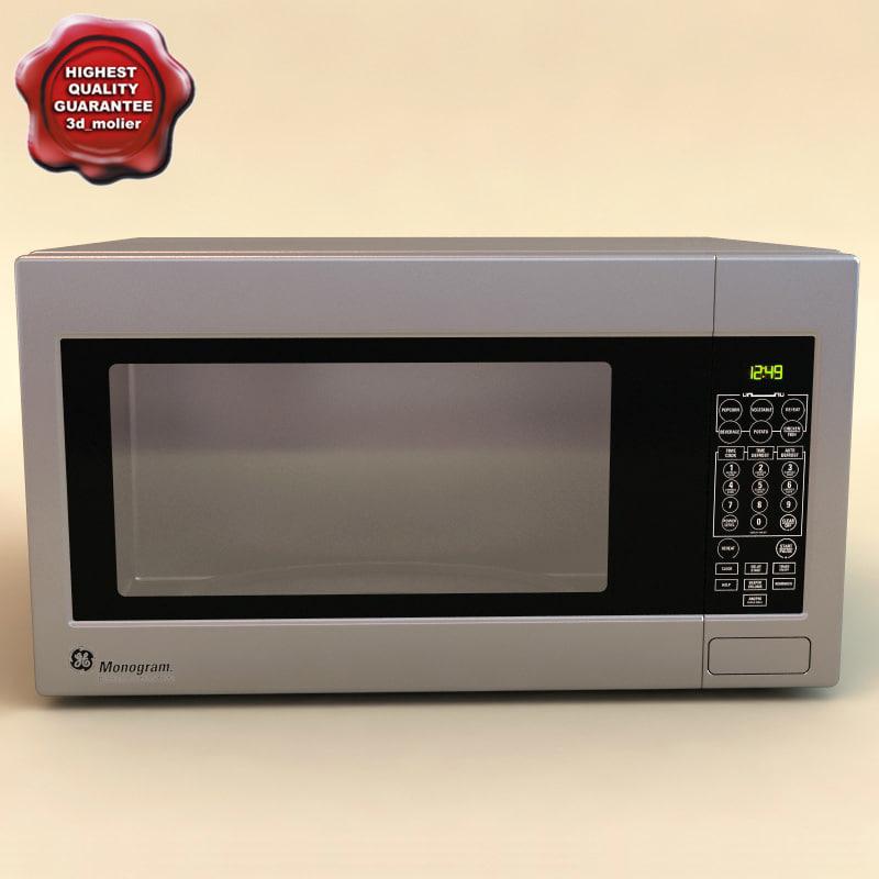 3d model microwave oven monogram