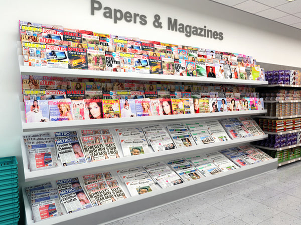 3d fbx newspaper display stand