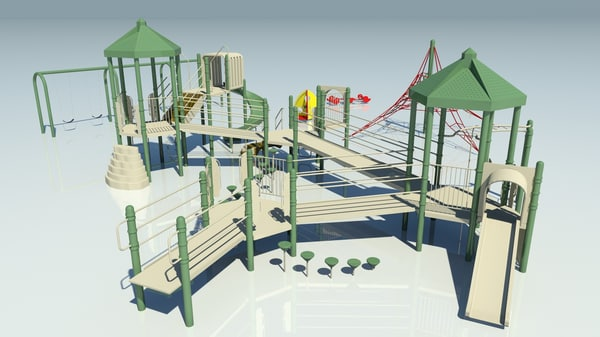 3d model playground equipment