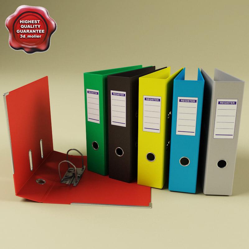ring binders 3d model