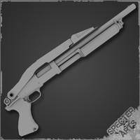 m31 riot shotgun 3d model